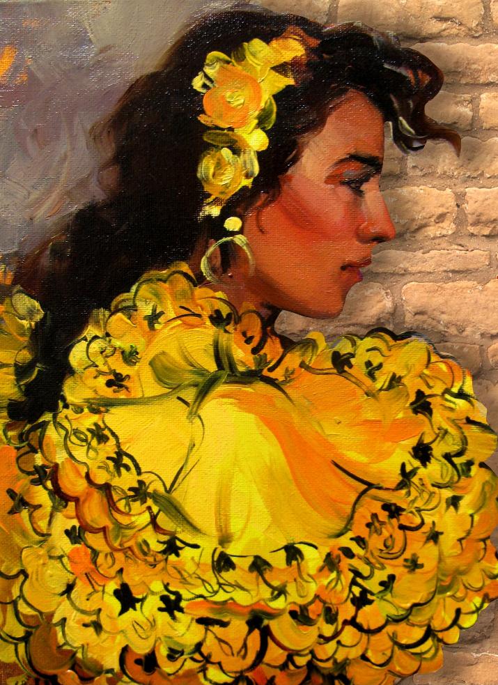 """Alises Mediņas gleznu izstāde """"Andalūzijas saule"""""""