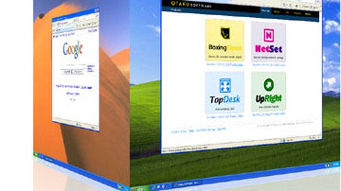 3D desktop MS Windows videi
